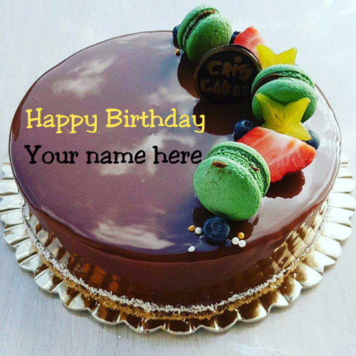 Chocolate Birthday Cake With Name On It