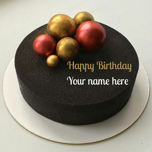 Chocolate Velvet Birthday Cake With Name On It