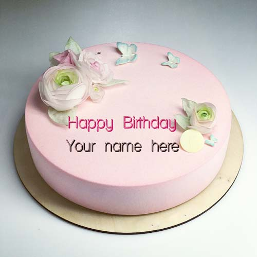 Write Name On Strawberry Flavor Cake With Name On It