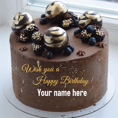Wish You A Happy Birthday Cake With Name On It