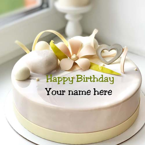 Butter Cream Birthday Cake With Name On It For Papa