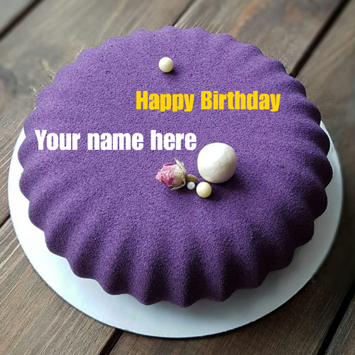 Blackcurrant Velvet Birthday Name Cake For Husband