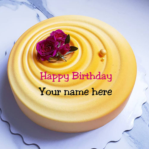 Mango Flavor Rose Decorated Birthday Cake For Husband