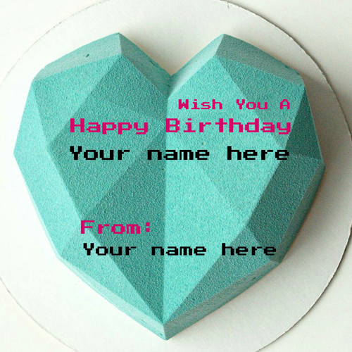 Wish You A Happy Birthday Cake With Heart For Love