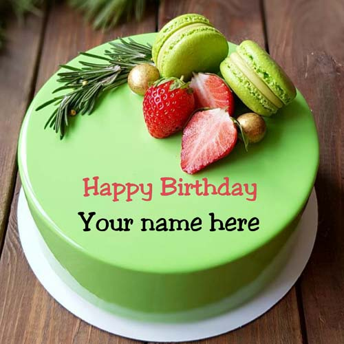 Pista Flavor Birthday Cake With Name On It For Brother