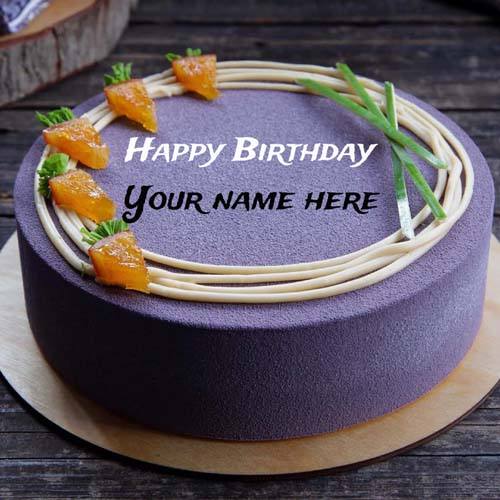 Happy Birthday Cake With Name Editor For Mummy