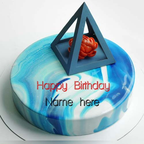 Designer Happy Birthday Name Cake For Husband