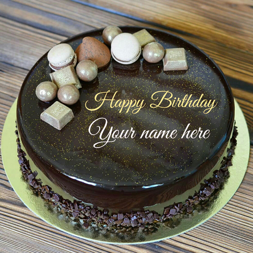 Write Name On Belgium Chocolate Birthday Cake With Name