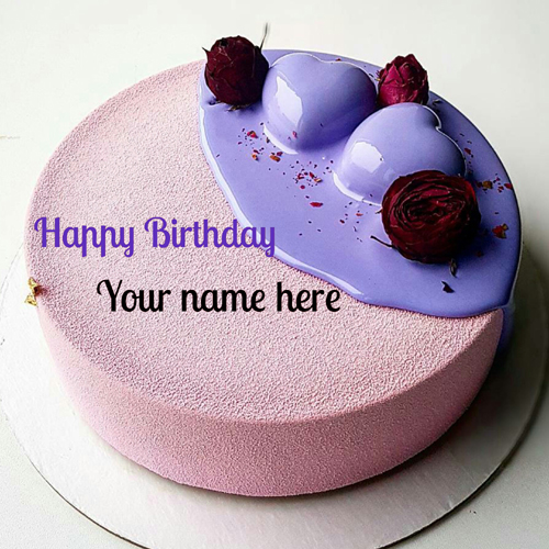 Write Name On Birthday Cake With Heart For Love