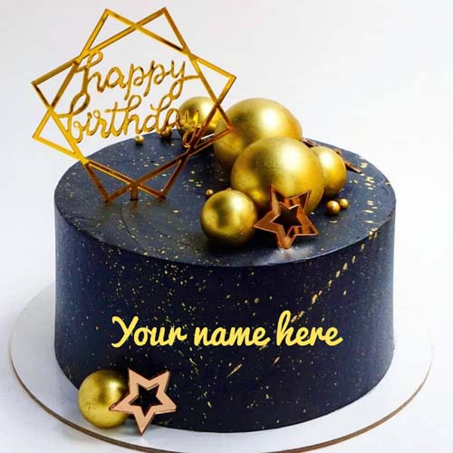 Generate Name On Dark Chocolate Birthday Cake For Love