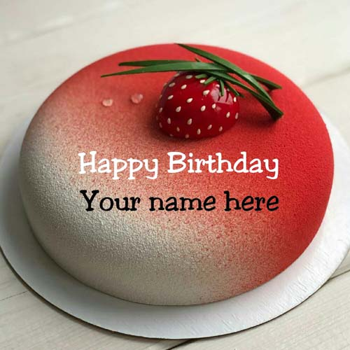 Red Velvet Birthday Name Cake For Husband