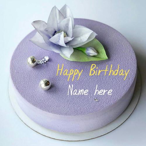 Blackcurrant Birthday Cake For Hubby With Name On It