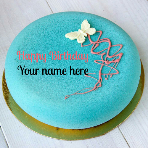 Type Name On Velvet Birthday Cake For Sister