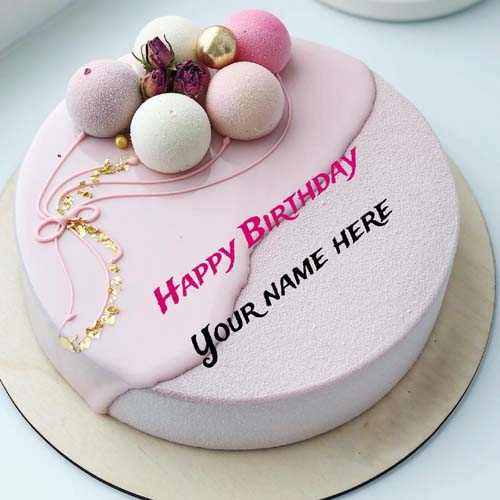 Write Friend Name On Happy Birthday Cake For Wishes